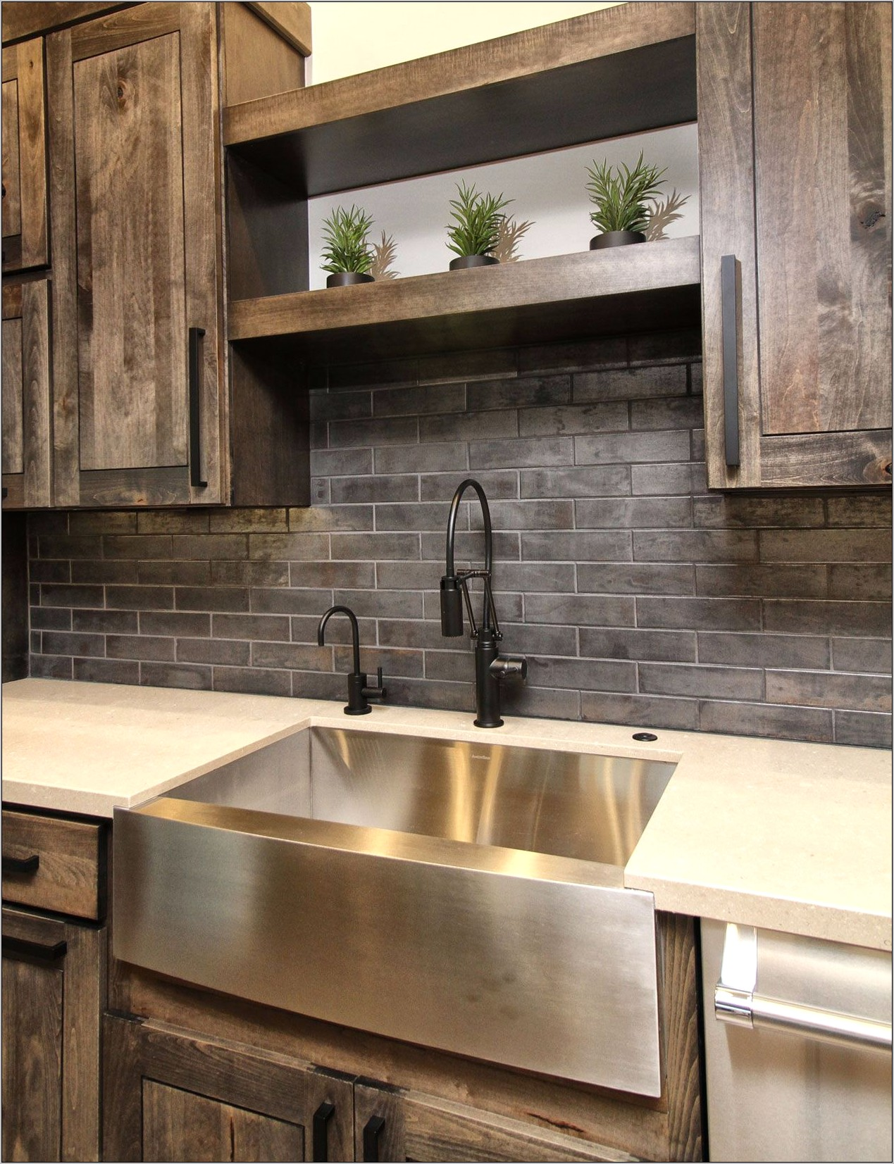 Decorative Kitchen Sink Shelves
