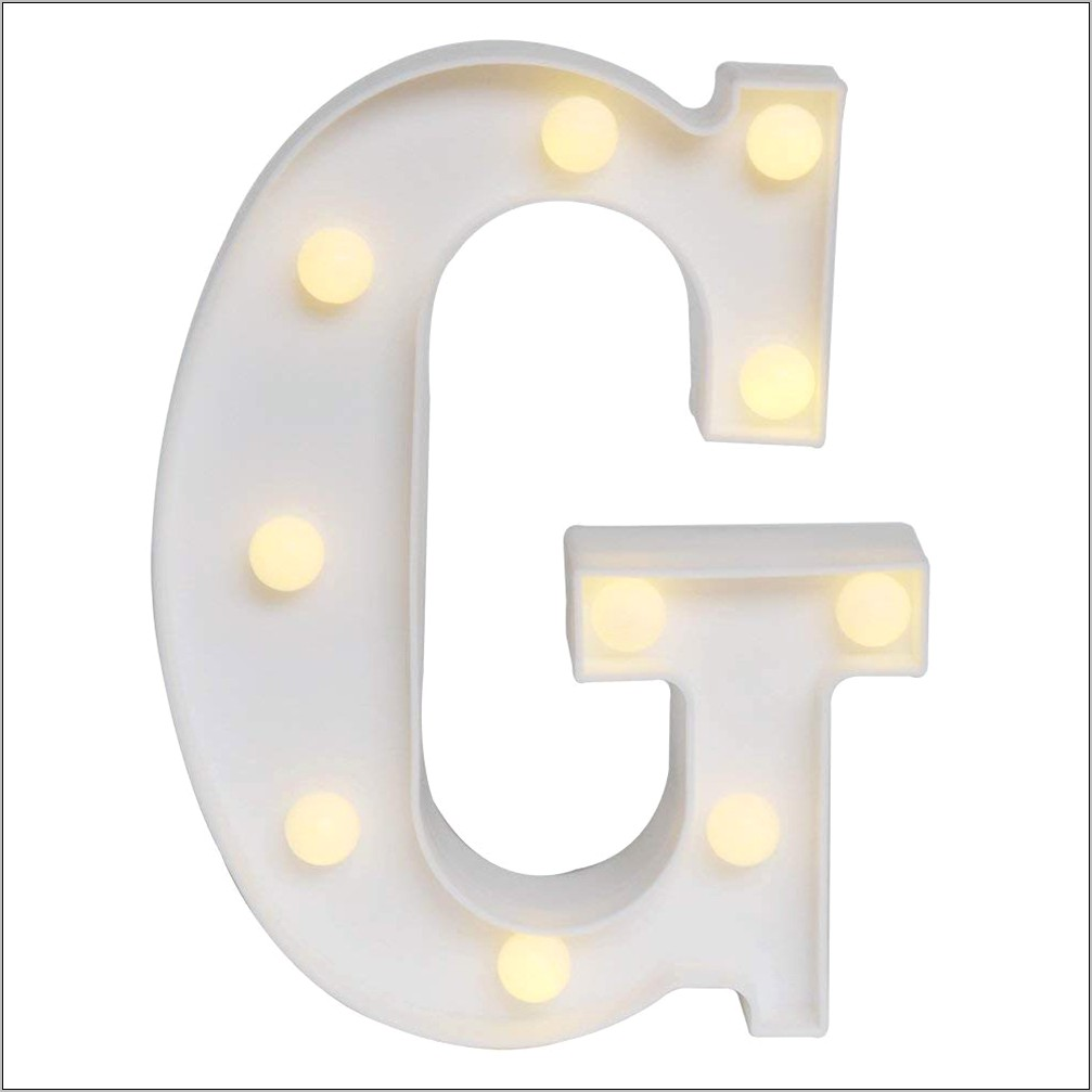 Decorative Led Letters In Kitchen