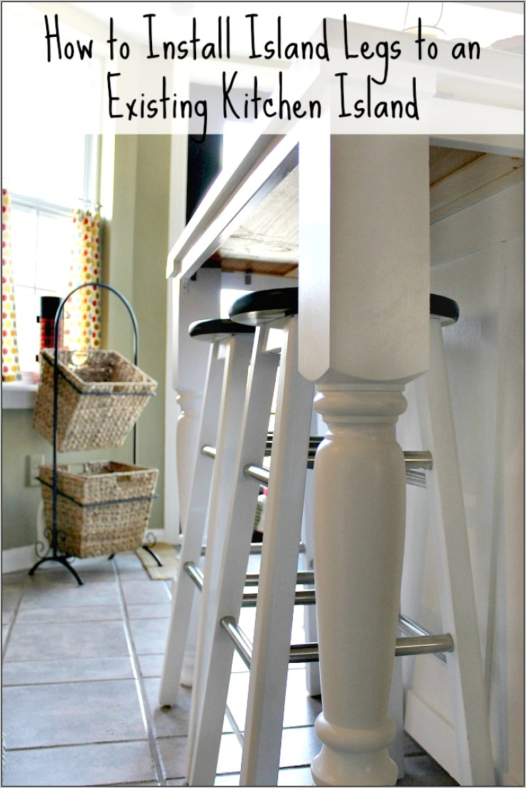 Decorative Legs Kitchen Island With Column