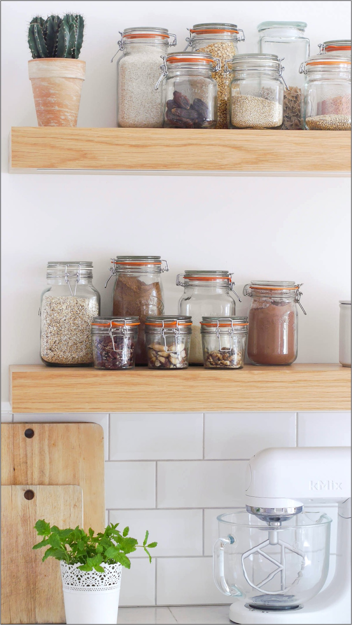 Decorative Mason Jars Kitchen Shelf