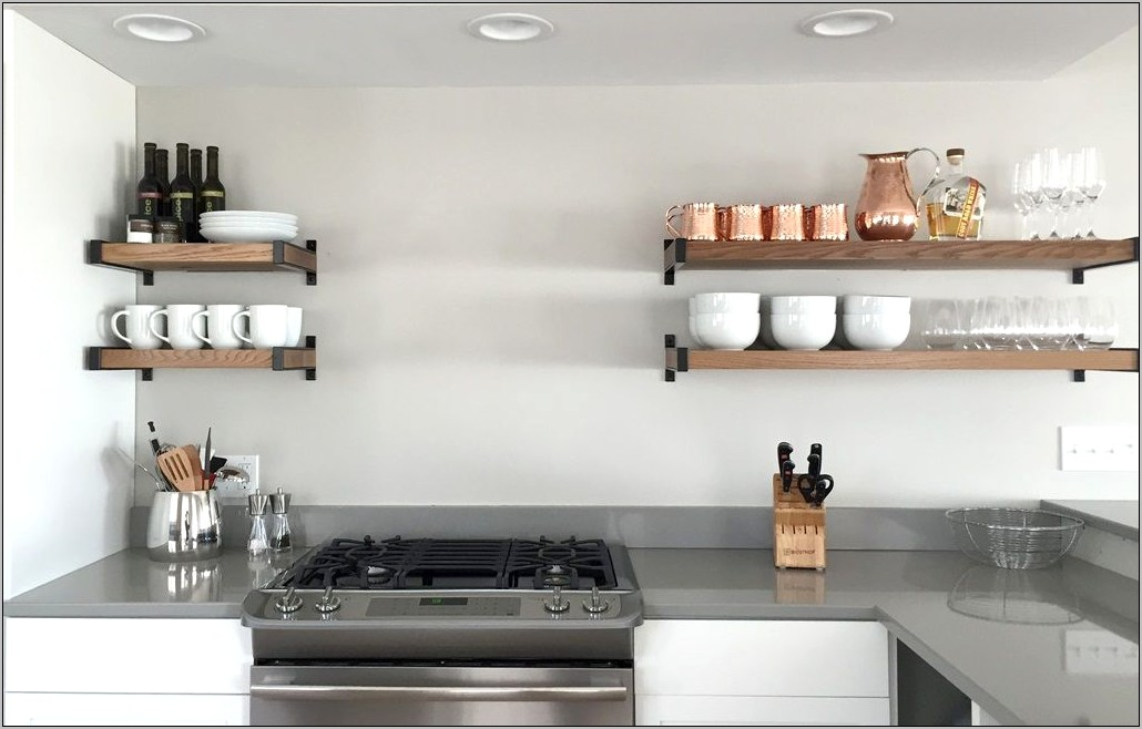 Decorative Open Kitchen Shelving