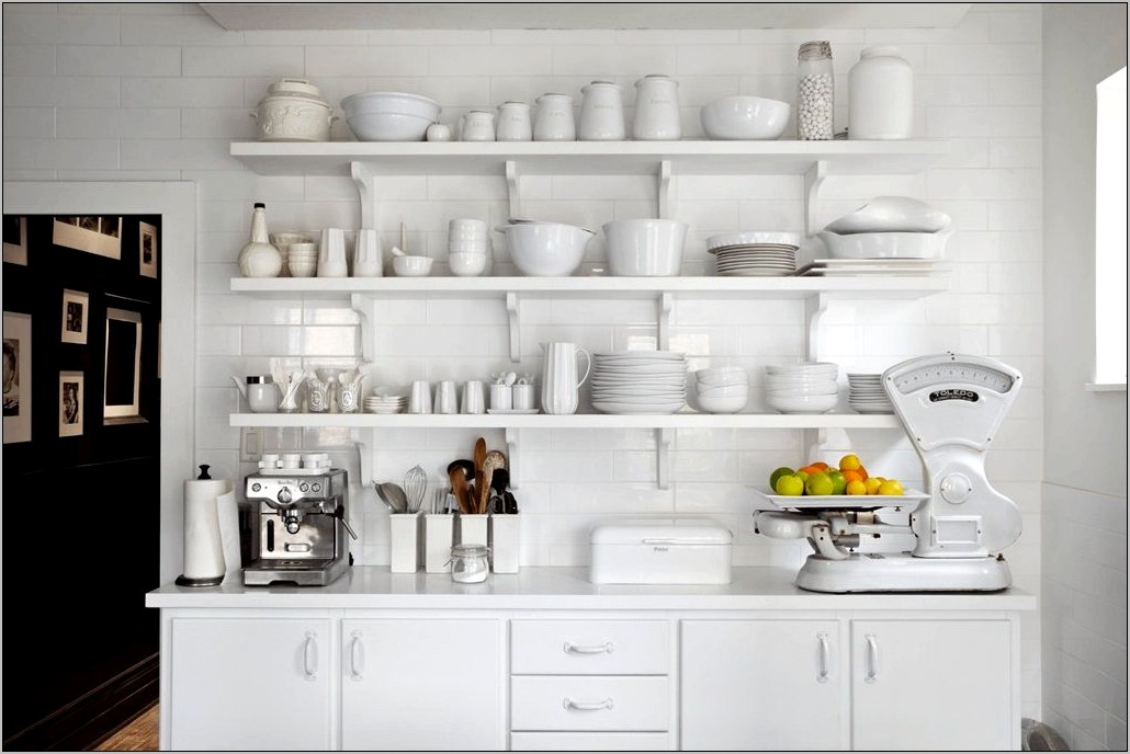 Decorative Shelving In Kitchen
