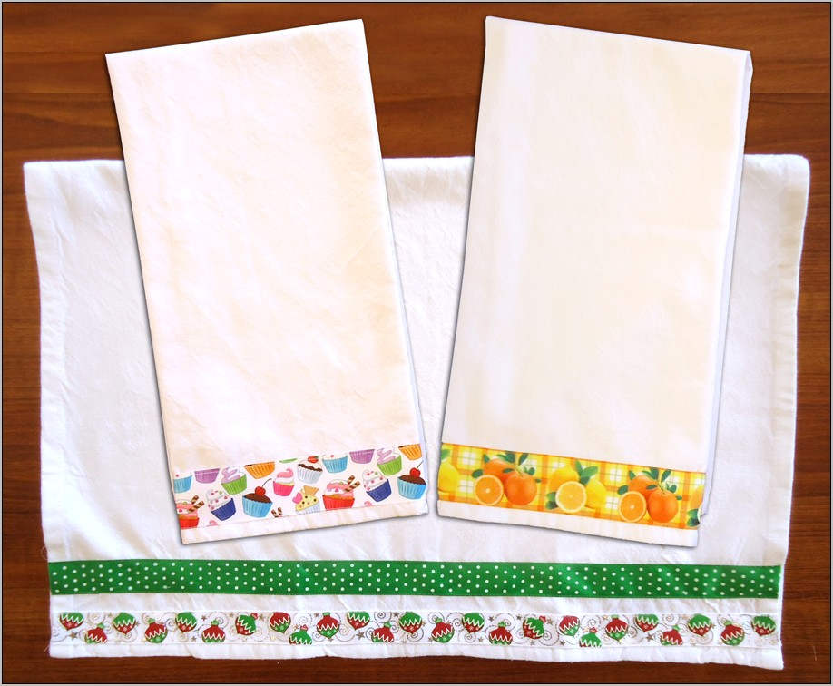 Decorative Stitching On Kitchen Towels