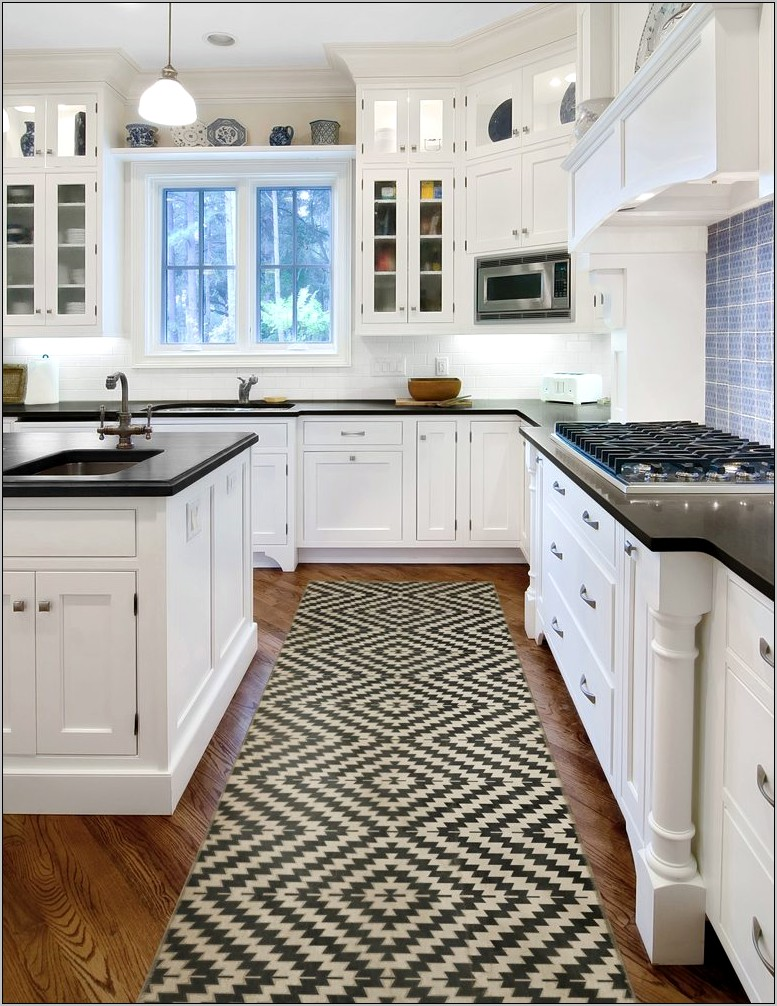 Decorative Wood Inlay With Tile Kitchen