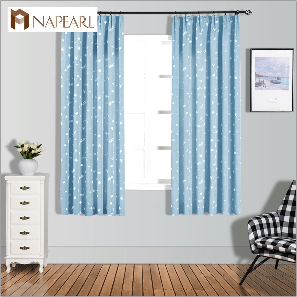 Decorator Fabric Windows Kitchen Blue