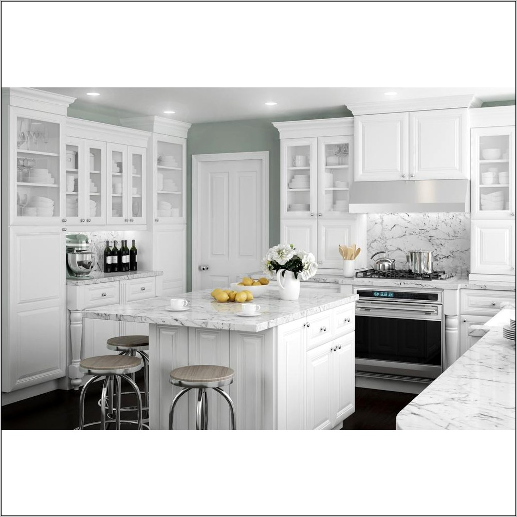 Decorators White And Black Kitchen