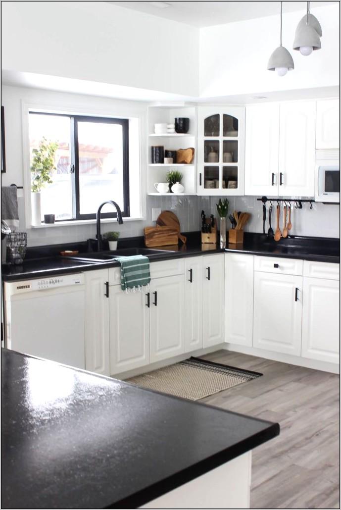 Decoring Ideas To Offset Dark Kitchen Cabinets