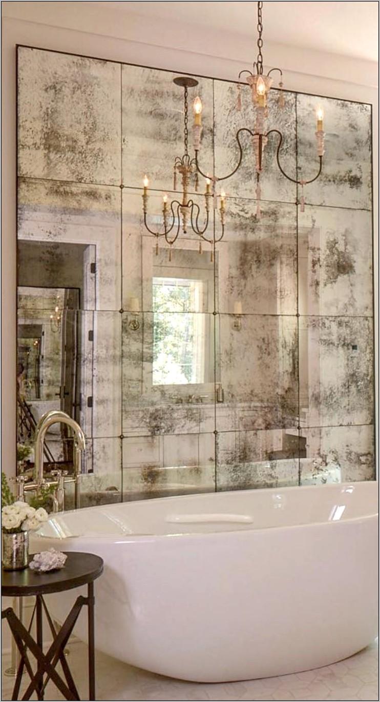 Distressed Decorative Mirrors Kitchen