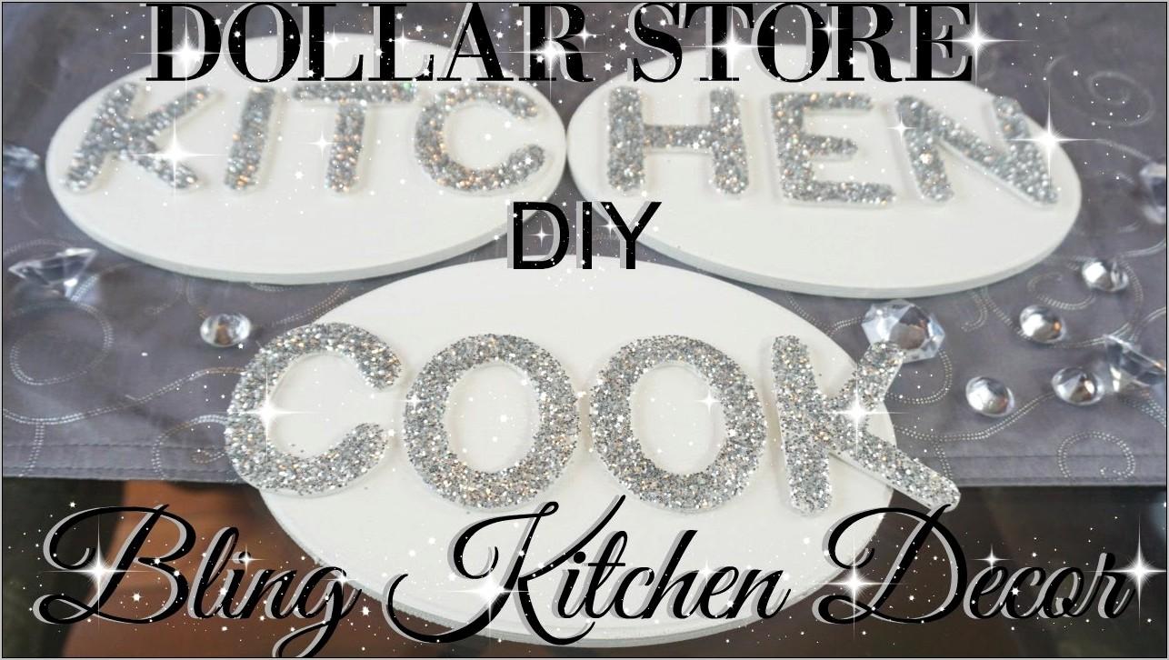 Diy Glitter Kitchen Decor
