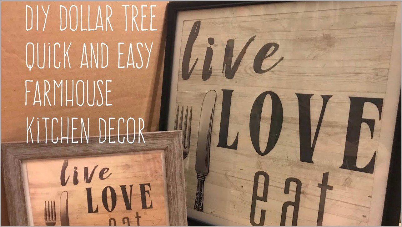 Dollar Tree Diy Kitchen Decor