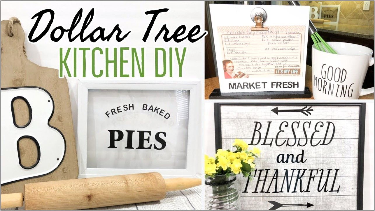 Dollar Tree Kitchen Decor