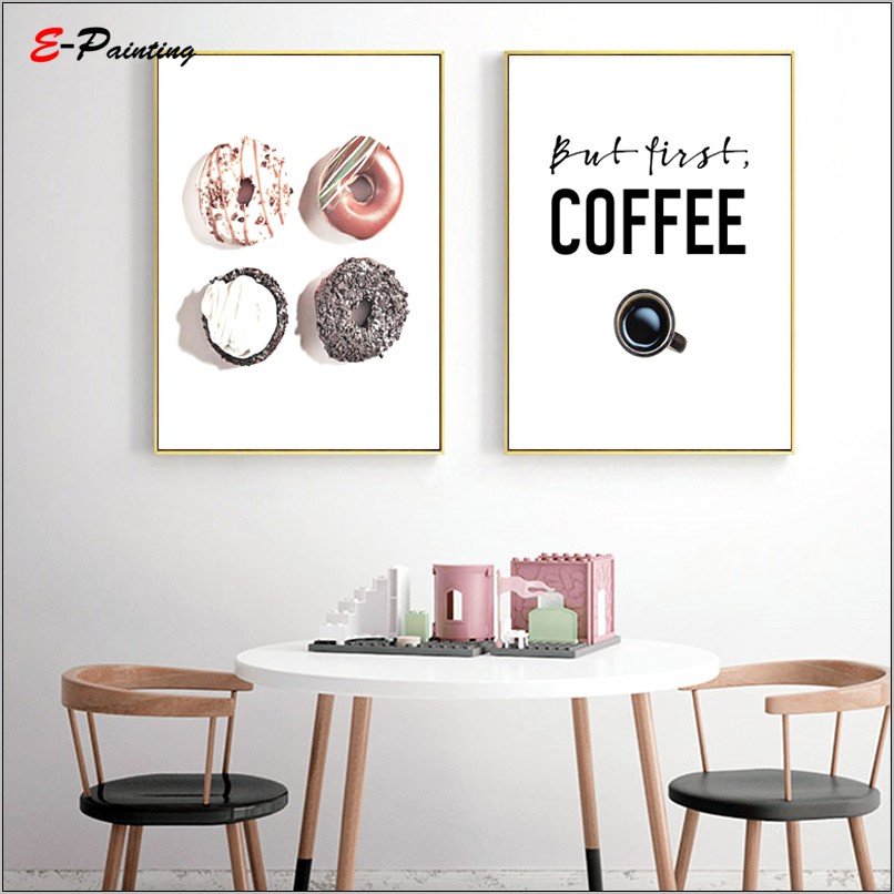 Donut And Coffee Kitchen Decor