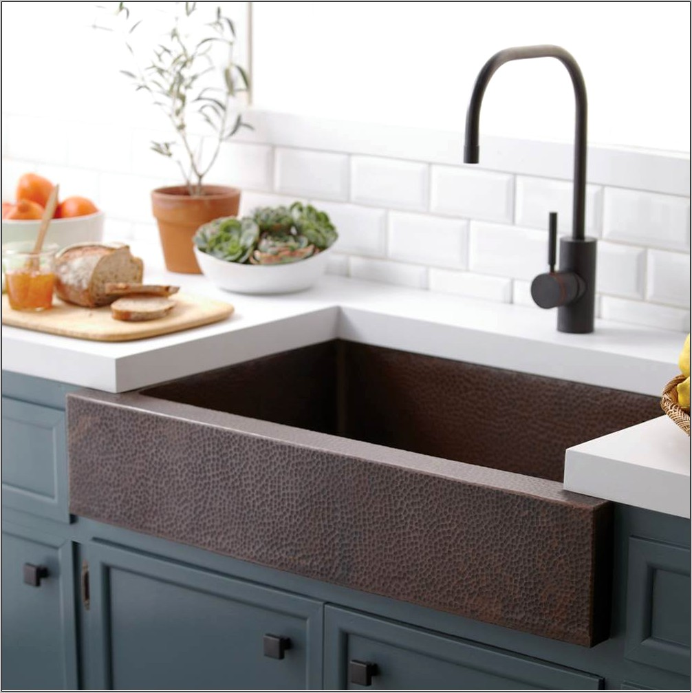 Double Decorative Kitchen Copper Sinks