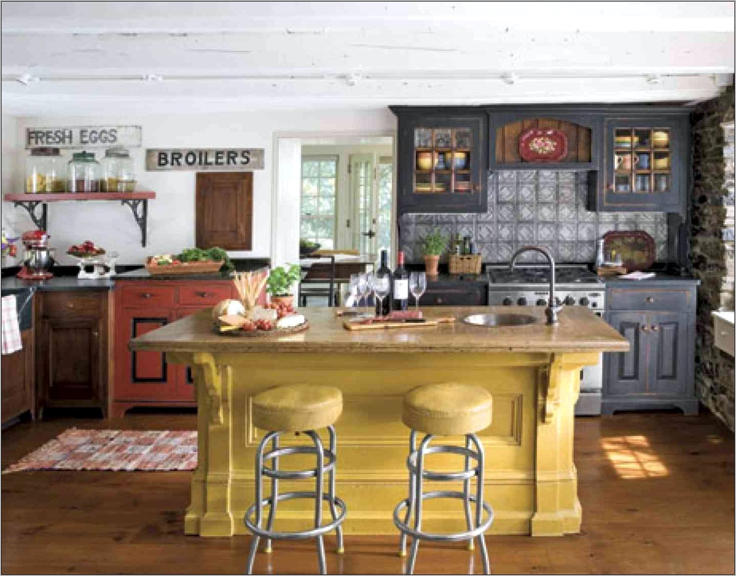 Early American Kitchen Decorating Ideas