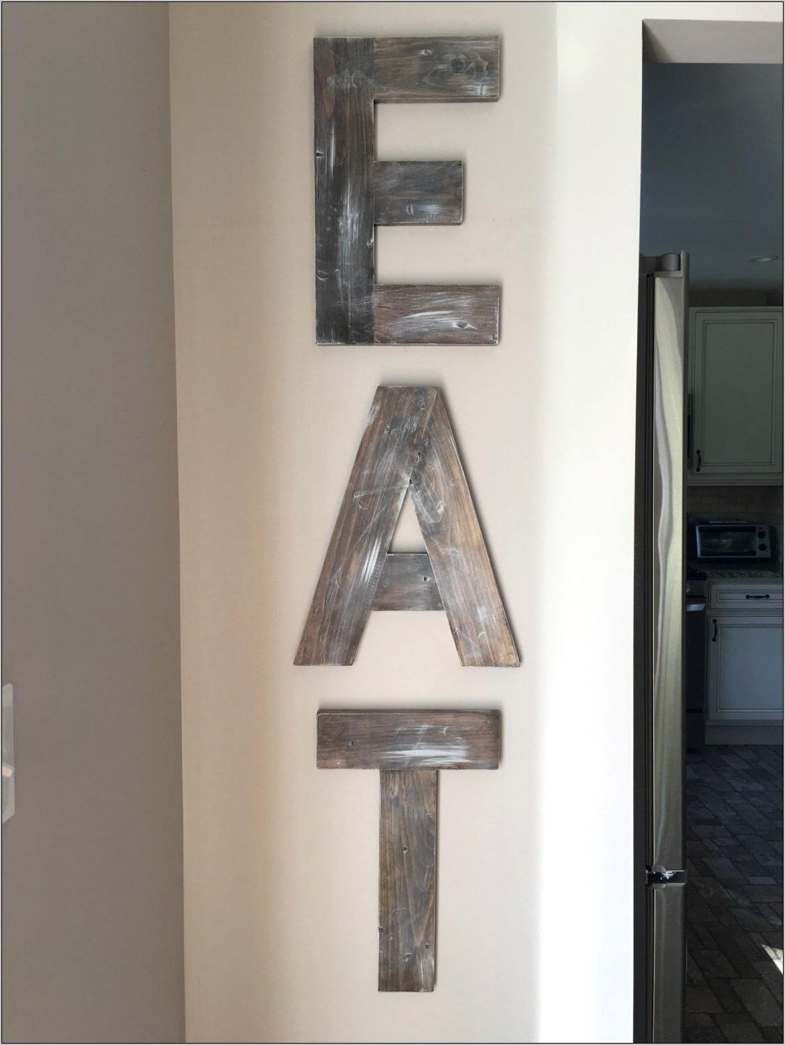 Eat Letters Kitchen Decor