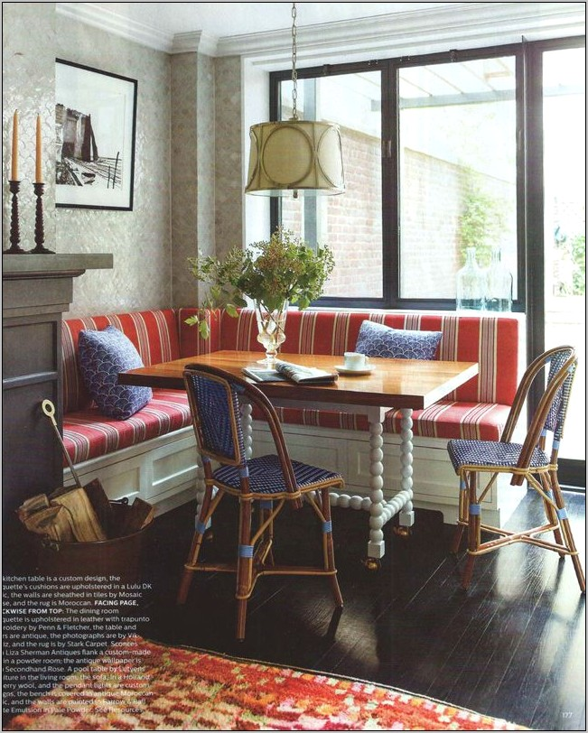Elle Decor Kitchen Banquette