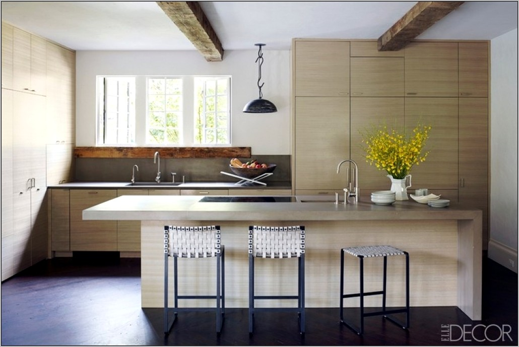 Elle Decor Rustic Kitchens