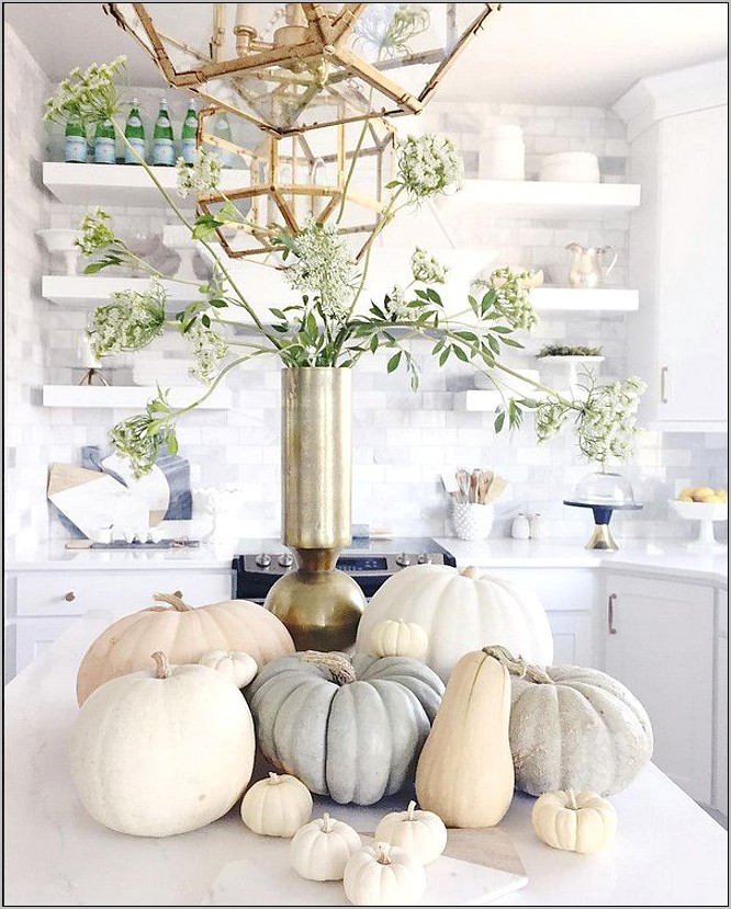 Fall Kitchen Island Decor Ideas