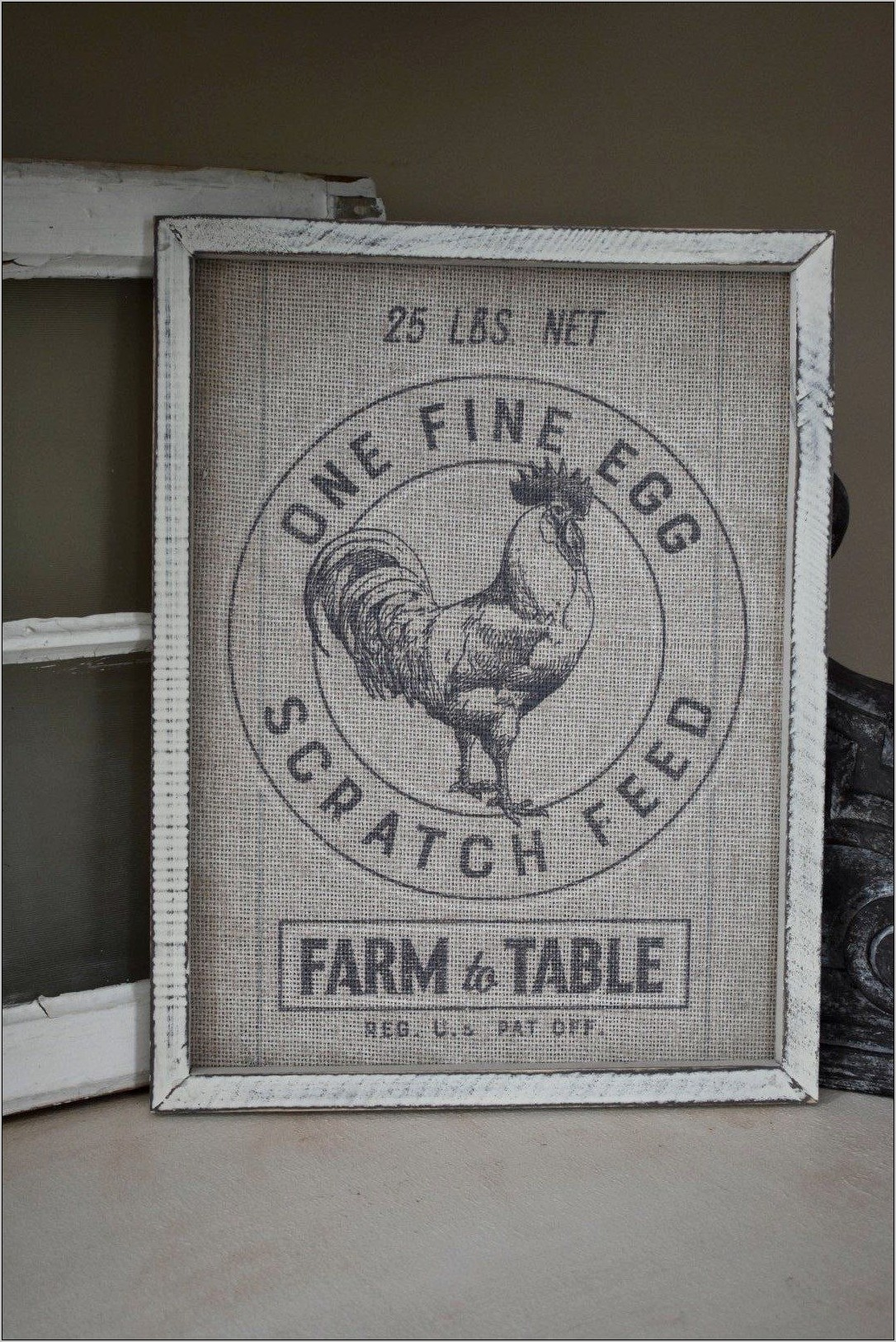 Farm Frame Wall Kitchen Decor