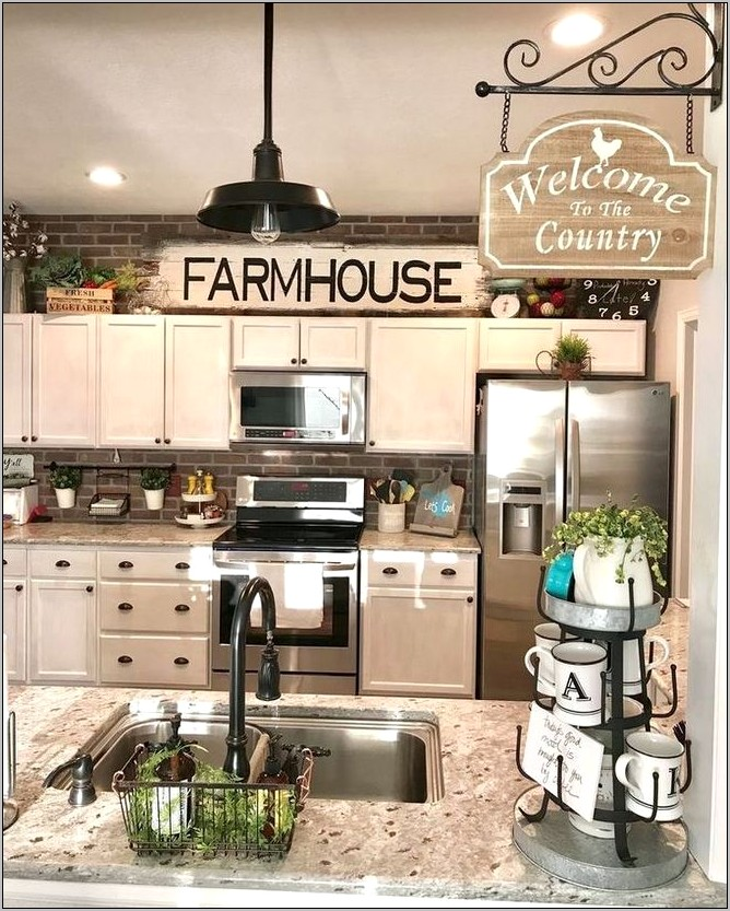 Farmhouse Above Kitchen Cabinet Decor