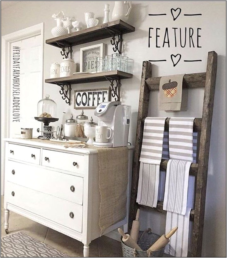 Farmhouse Decor Kitchen Coffee Bar