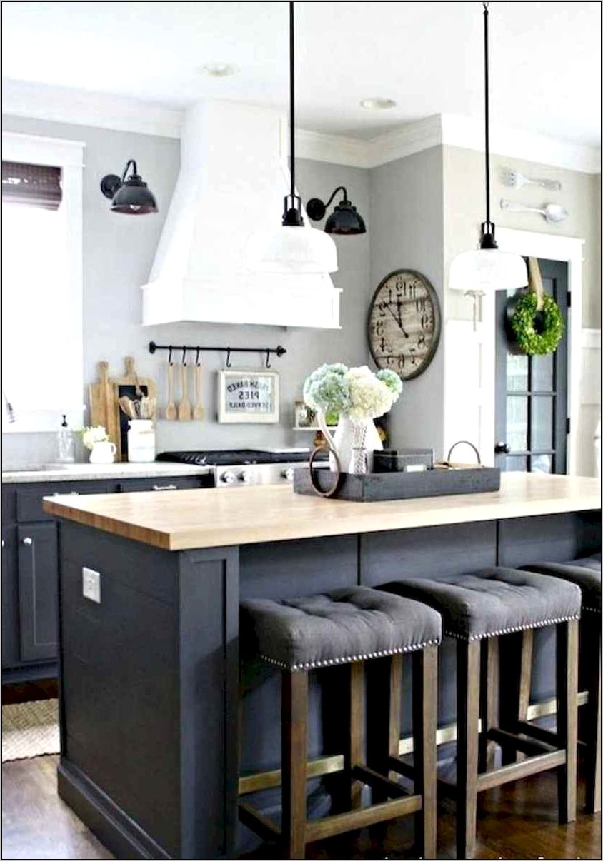 Farmhouse Kitchen Island Decor