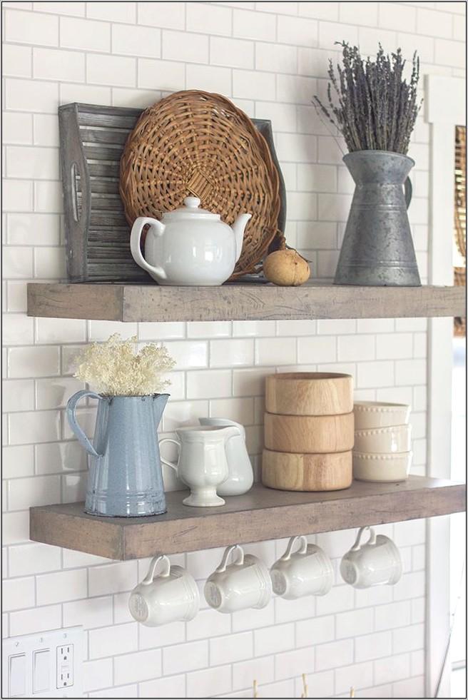 Farmhouse Kitchen Shelves Decor