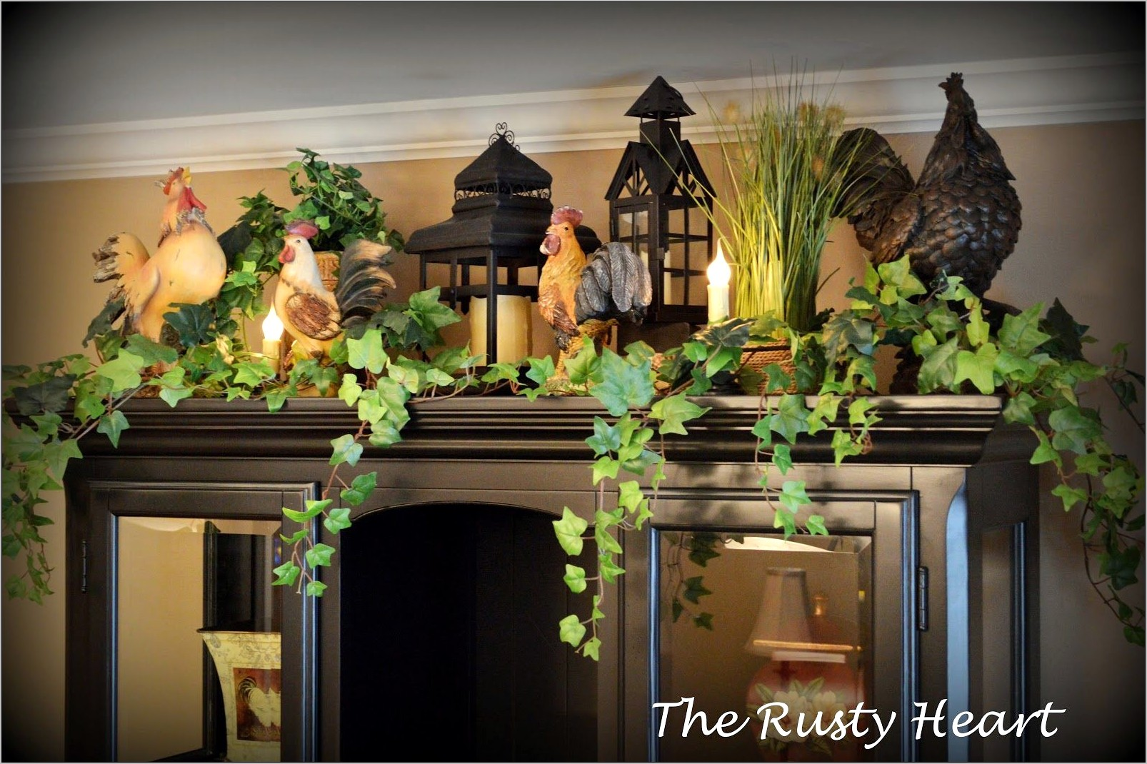 Floral Decorations For Top Of Kitchen Cabinets