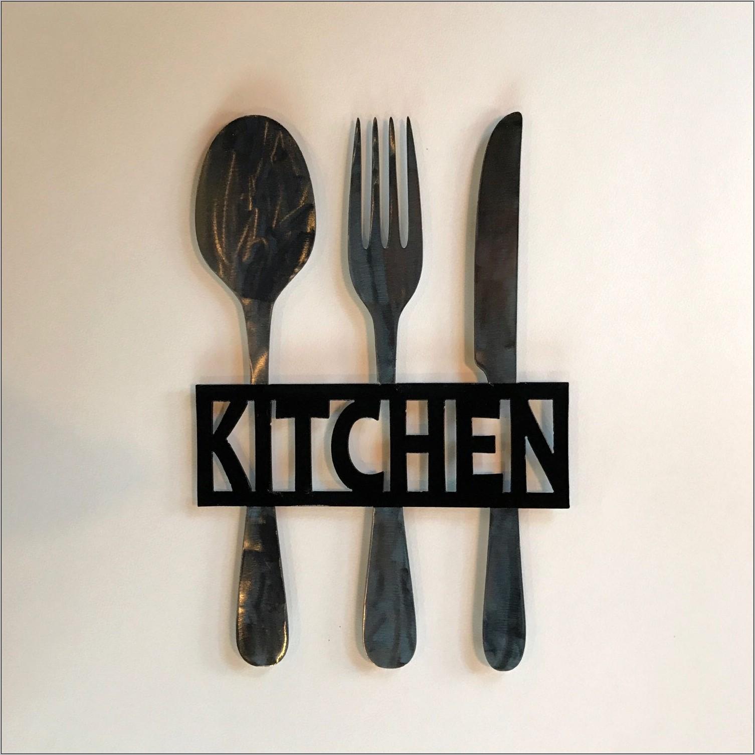 Fork Knife And Sppon Kitchen Decor