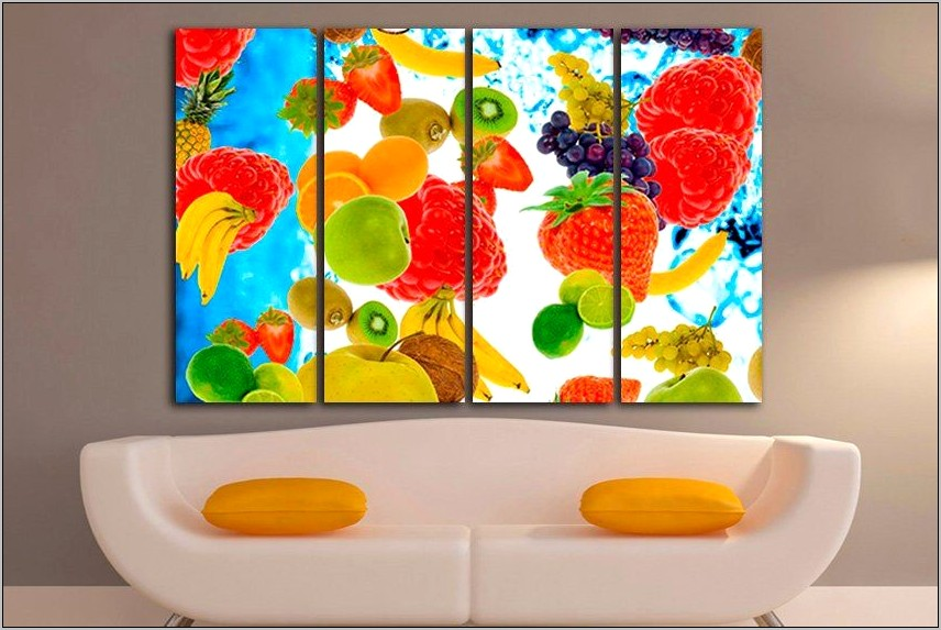 Fruit Wall Decor Kitchen Canvas