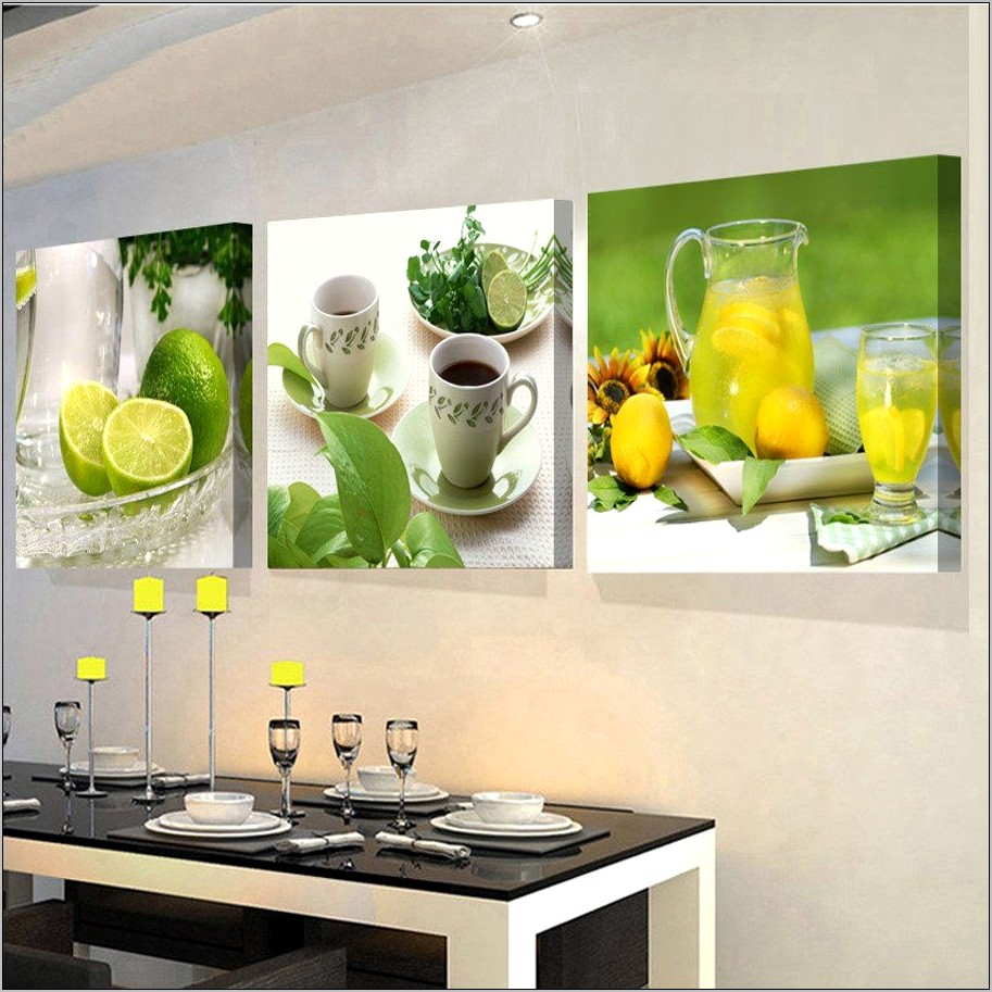 Fruit Wall Decor Kitchen Modern Canvas