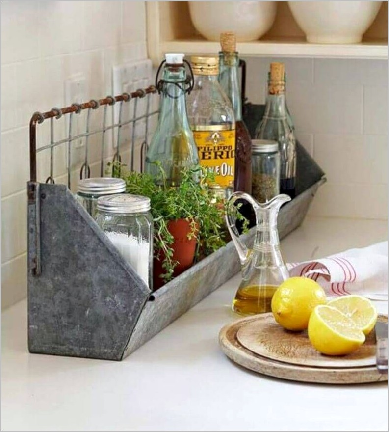 Galvanized Metal Decor And Kitchen