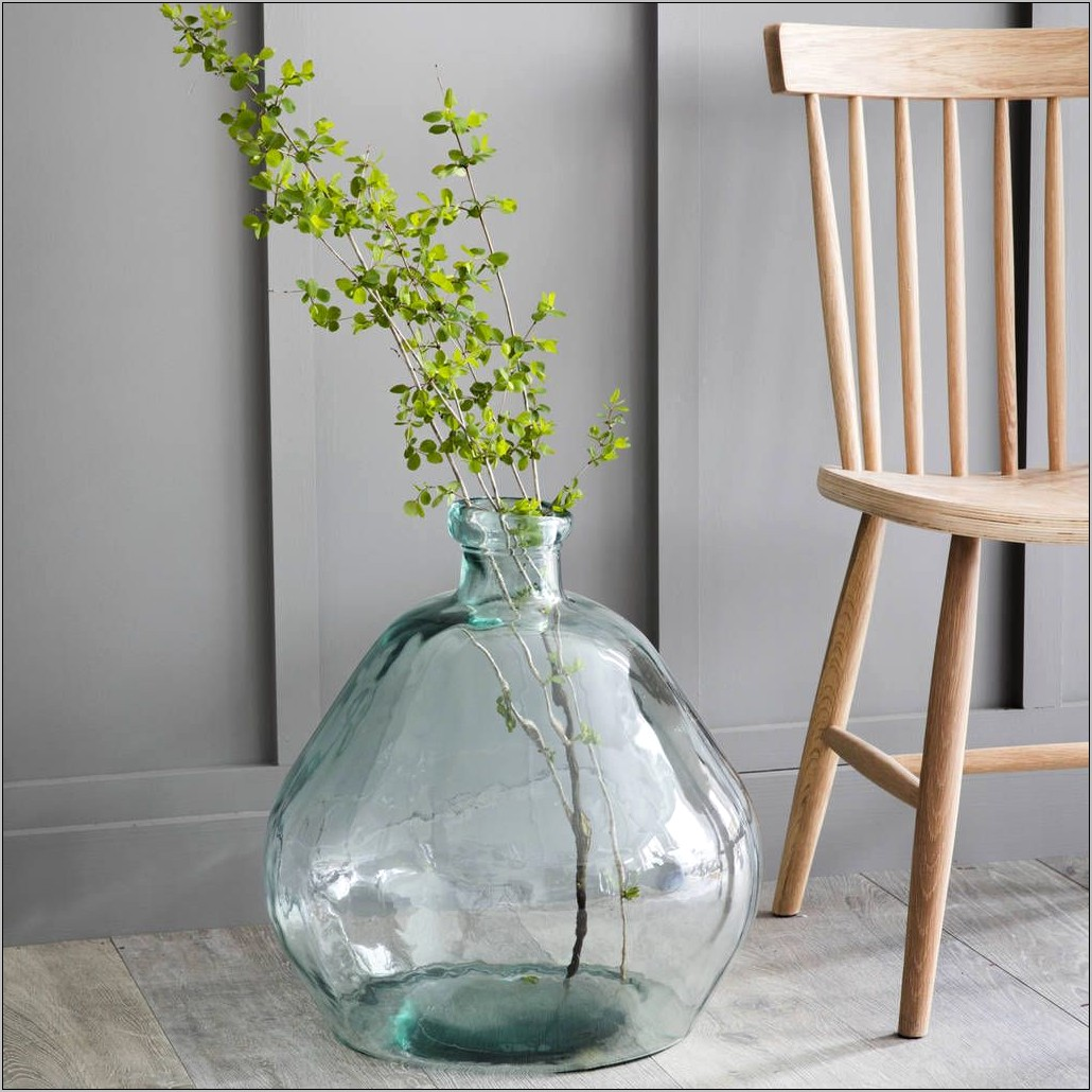 Glass Balloon Vase Decor For Kitchen Table