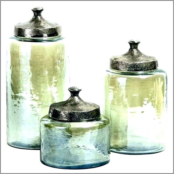Glass Kitchen Canisters Decorative