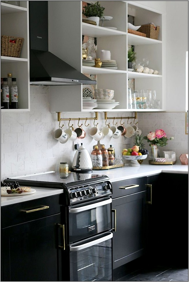 Gold And Black Kitchen Decor