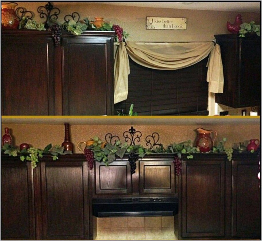 Grape Vine Decor Kitchen Cupboard