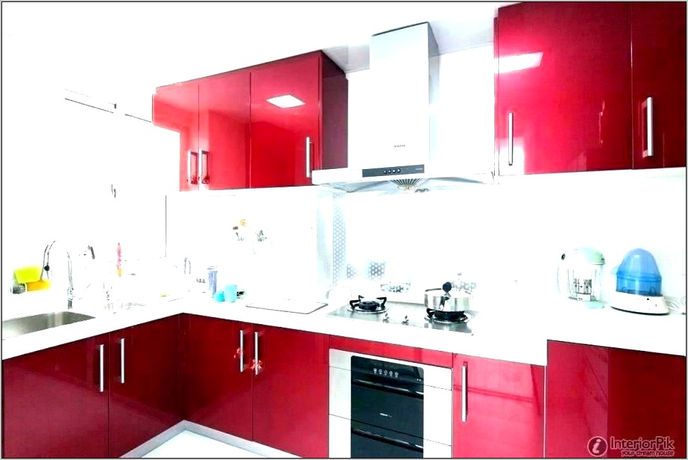 Gray And Red Kitchen Decor