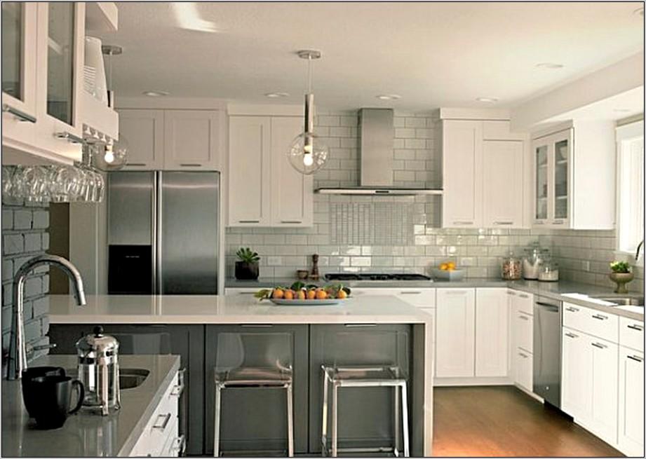 Gray White Metallic Kitchen Decor