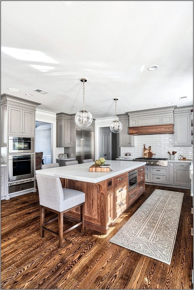 Gray Wood Kitchen Decor
