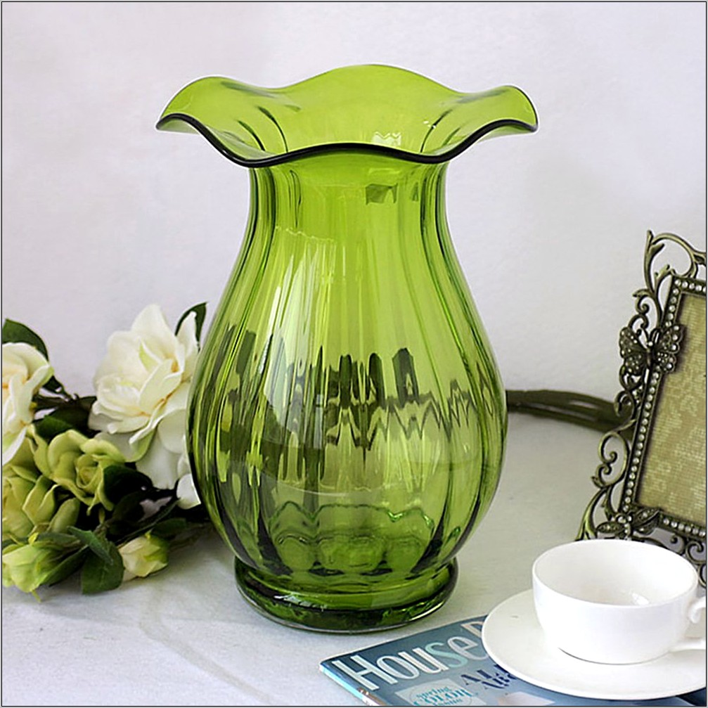 Green Vase Kitchen Decorations
