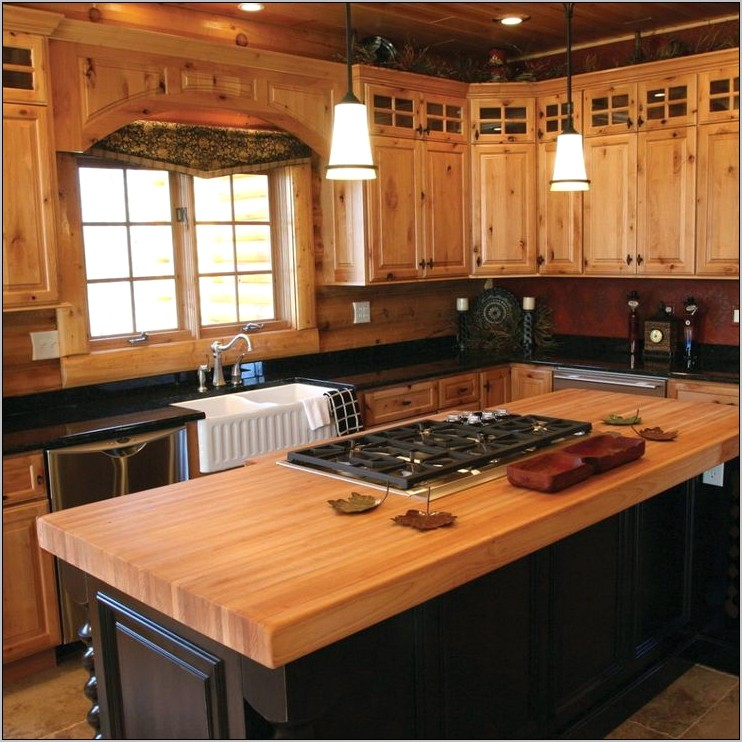 Home Decorating Dilemmas Knotty Pine Kitchen Cabinets
