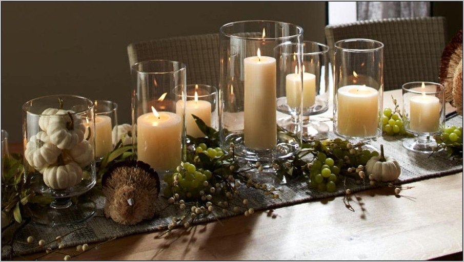 Hurricane Candle Holder Decoration Ideas For Kitchen