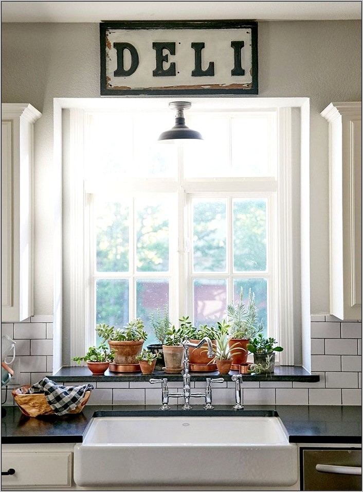 Ideas For Decorating By Kitchen Window