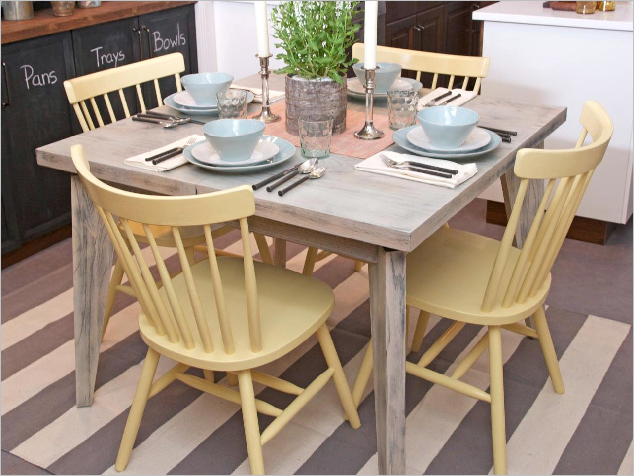 Images Of Decorated Kitchen Tables And Chairs