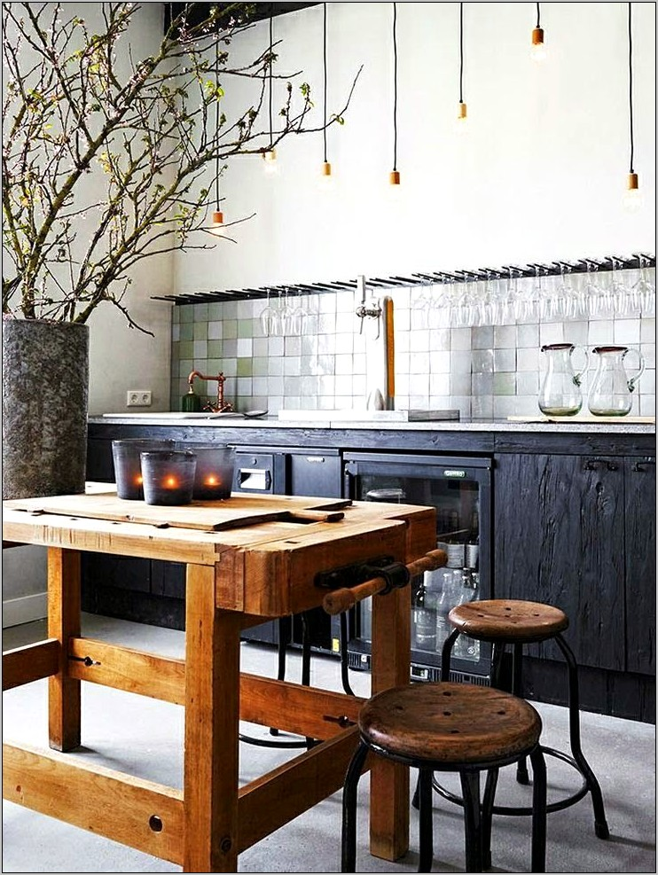Industrial Rustic Kitchen Decor