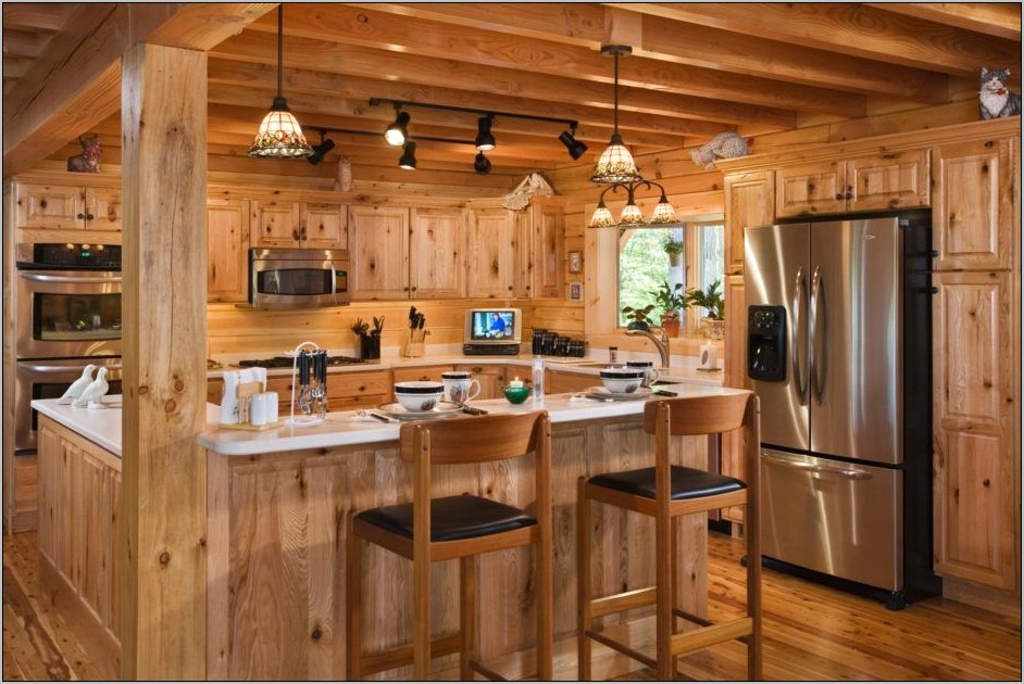 Interior Decorating Log Cabin Kitchen