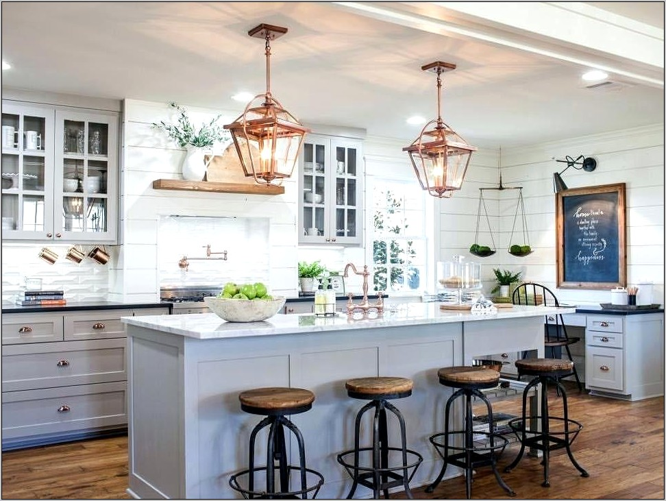 Joanna Gaines Decorating Above Kitchen Cabinets