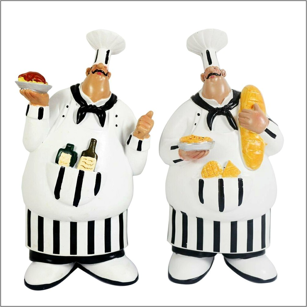 Kiaotime Italian Chef Figurines Kitchen Decor