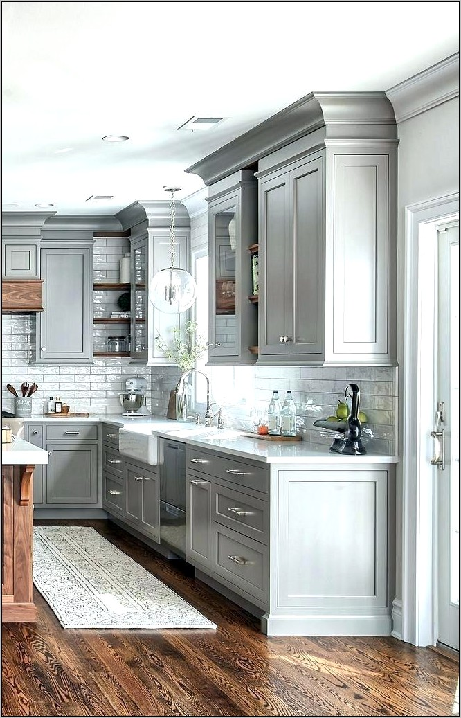 Kitchen Cabinets Tops Decorated Ideas