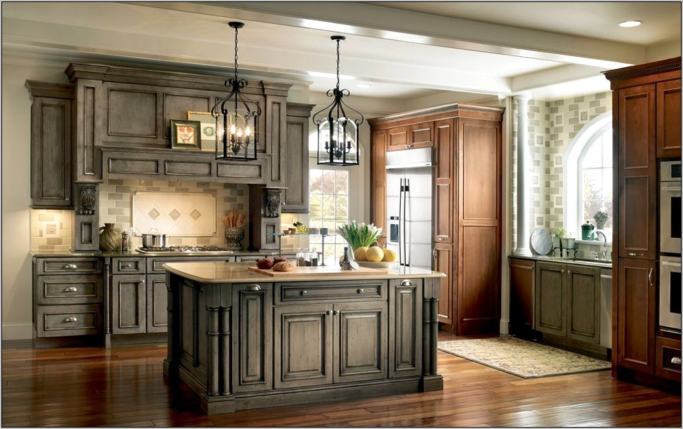 Kitchen Cabinets With Decorative Medallions